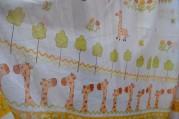 Тюль Детский Жираф (зеленый)