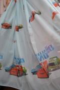 Тюль  детский Тачки (светло-голубой)