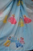 Тюль детский Принцессы 2 (голубой)