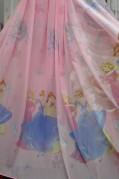 Тюль детский Принцессы (розовый)