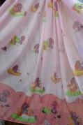 Тюль детский Слоник (розовый)