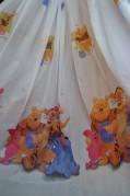 Тюль детский Винни Пух (белый)