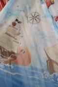 Тюль Детский Корабль (бежевый)