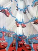 Тюль детский Тачки 3 (красный)