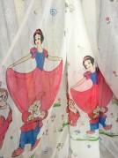 Тюль детский Принцессы 3 (красный)