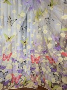 Тюль в детскую Бабочки (сиреневый)