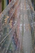 Тюль Николет (персиковый)