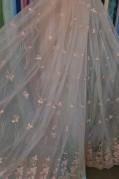 Тюль Розали (персиковый)