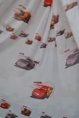 Тюль детский Тачки 2 (белый)