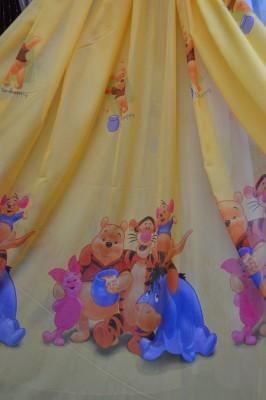 Тюль детский Винни Пух (желтый)