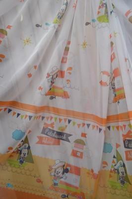 Тюль детский Микки (оранжевый)