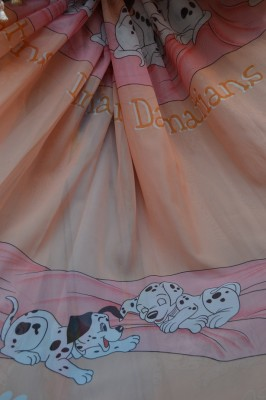 Тюль Детский Долматинцы (персиковый)