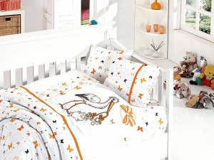 Детское постельное бельё Stork Orange First Choice Бамбук в кроватку