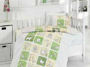 Детское постельное бельё Luci Yesil First Choice Бамбук в кроватку
