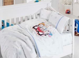 Детское постельное бельё Penguins Mavi First Choice Бамбук в кроватку