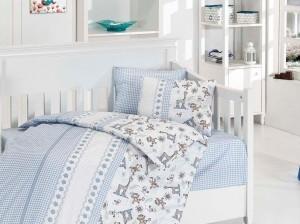 Детское постельное бельё Monkey Mavi First Choice Бамбук в кроватку