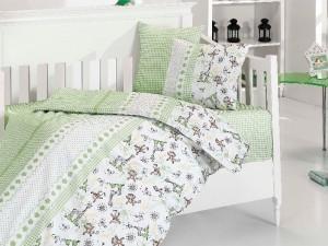 Детское постельное бельё Monkey Yesil First Choice Бамбук в кроватку