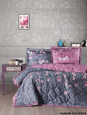 """Летний постельный набор Softness Quilt Set """"Mabelle Grey"""""""