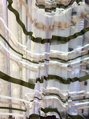 Тюль Камелия (зеленый)