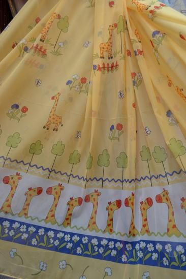 Тюль Детский Жираф (желтый)