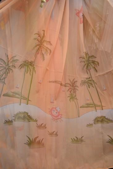 Тюль Детский Пальмы (желтый)