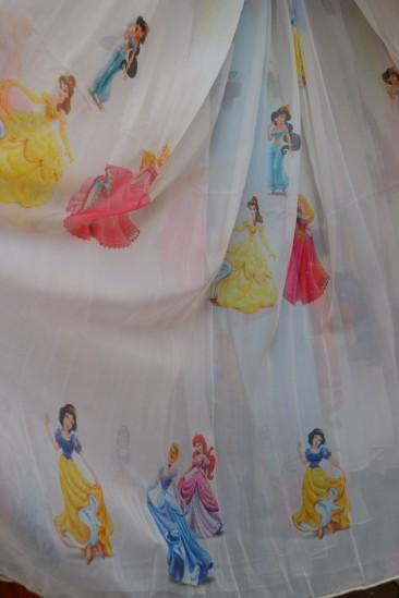 Тюль Детский Принцессы 2 (белые)