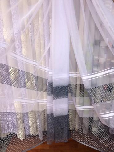 Тюль фатин Кристина (серый) Турция