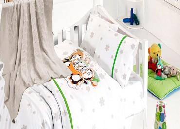 Детское постельное бельё Penguins Yesil First Choice Nirvana в кроватку