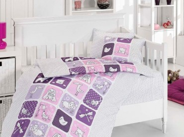 Детское постельное бельё Luci Lila First Choice Бамбук в кроватку