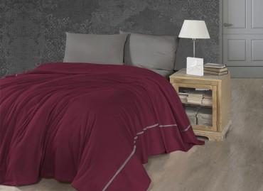 Летний постельный набор Soft Pike Bordo
