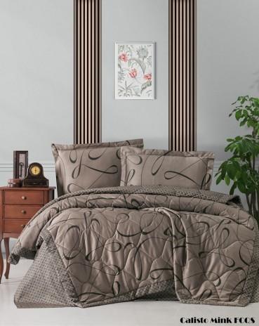 """Летний постельный набор Softness Quilt Set """"Calisto Mink"""""""