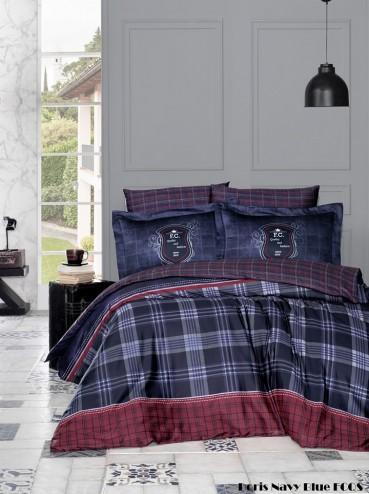 """Летний постельный набор Softness Quilt Set """"Doris Navy Blue"""""""