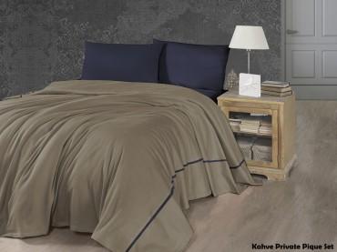 Летний постельный набор Soft Pike Kahve