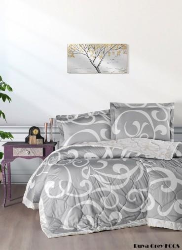 """Летний постельный набор Softness Quilt Set """"Ruya Grey"""""""