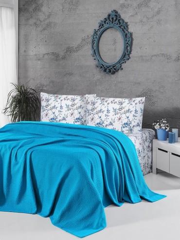 Летний постельный набор Soft Pike Turkuaz