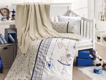 Детское постельное бельё Palmy Lacivert First Choice Nirvana в кроватку