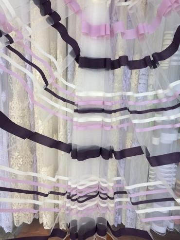Тюль Камелия (фиолетовый)