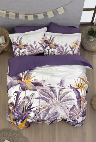 """Постельное бельё """"Botanical Purple"""" Superior Digital сатин Полуторный"""