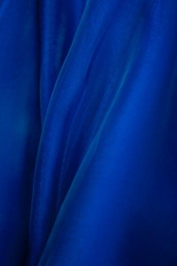 Органза синий
