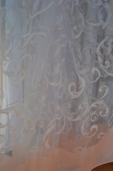Тюль Аморет (персиковый)