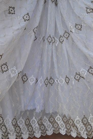 Тюль Зара (белый)