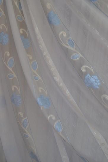 Тюль Саманта (голубой)